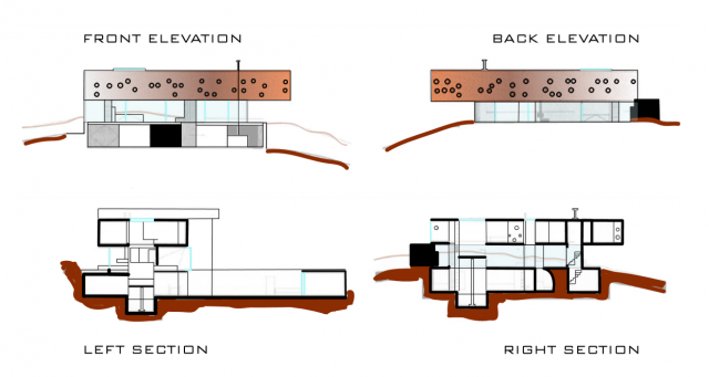 Plan Elevation Maison : Assignment no precedent drawings maison bordeaux